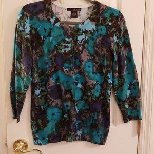 Willi Smith Cardigan Sweater L
